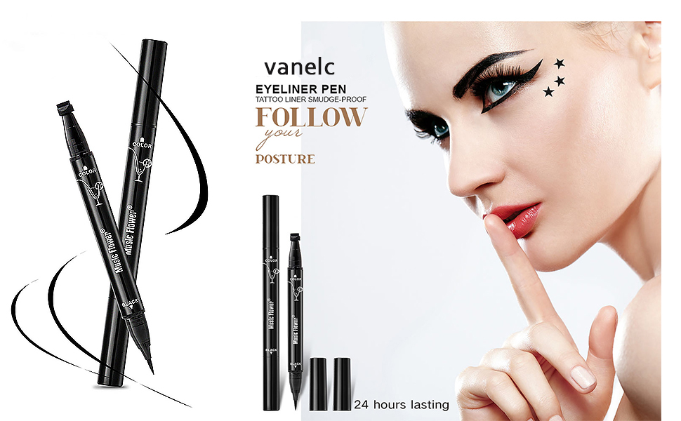 Beauty Essentials Expressive 1 Piece Fashion Star Eyeliner Pen Black Eye Liner Seal Pencil Liquid Cosmetic Beauty Long Lasting Waterproof Makeup Tool Back To Search Resultsbeauty & Health