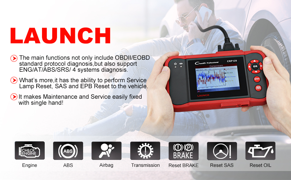 launch tech creader crp129 viii crp123 obd2 srs abs scanner code reader diagnostic scan tool