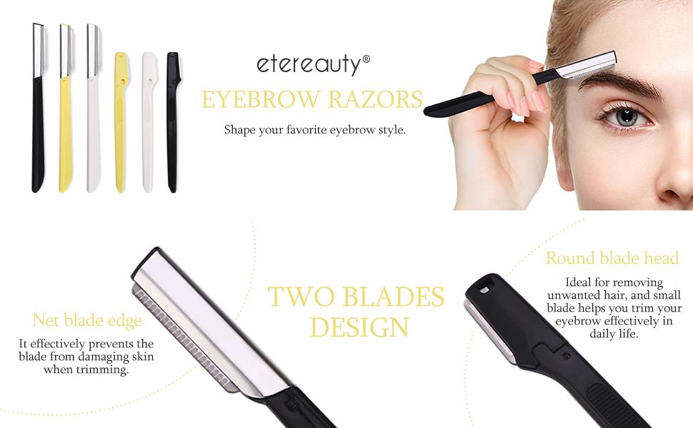 Mini Safety Eyebrow Razor Stainless Steel Eyebrow Shaper Trim