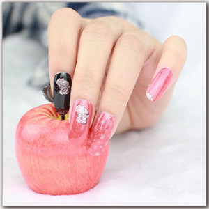 34ceb6f631 Christmas Nail Art, Glitter Nail Stickers for Women Teens Girls Kids,  Christmas Nail Wraps, Easy to Apply,...