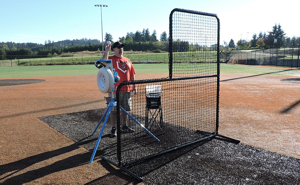 JUGS BP1 combo set up for baseball