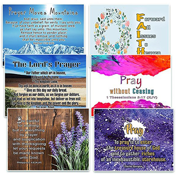 Amazon com : NewEights Christian Prayer Scriptures Cards (60