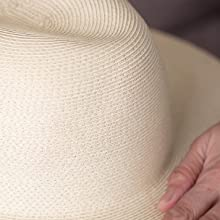Breathable material air circulation cool in summer structure crown lightweighted braid paper hat