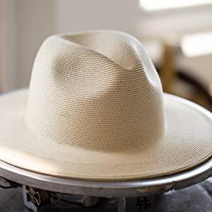 Panama straw paper braid fine beach summer outfit fedora floppy hat pineappleamp;Star designer