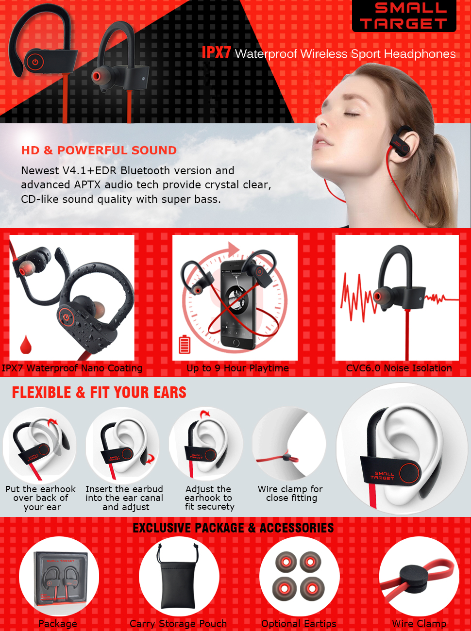 a0005cd8be0 Why the Small Target Sport Wireless Bluetooth Headphones BH01 are the right  choice for you?