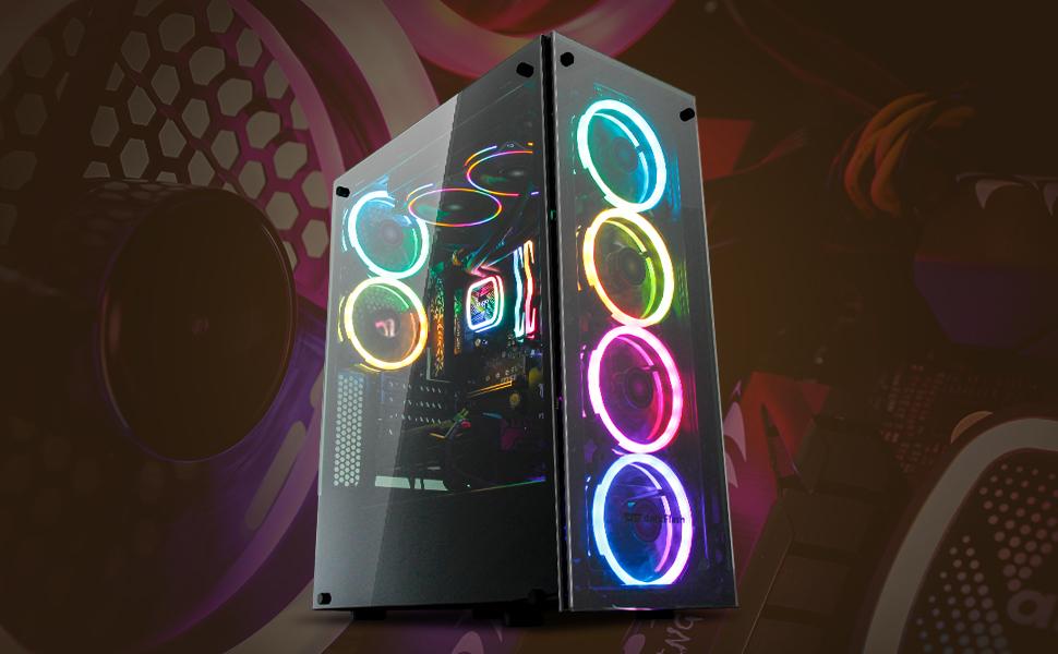 darkflash-phantom-black-atx-mid-tower-desktop-computer-gaming-case