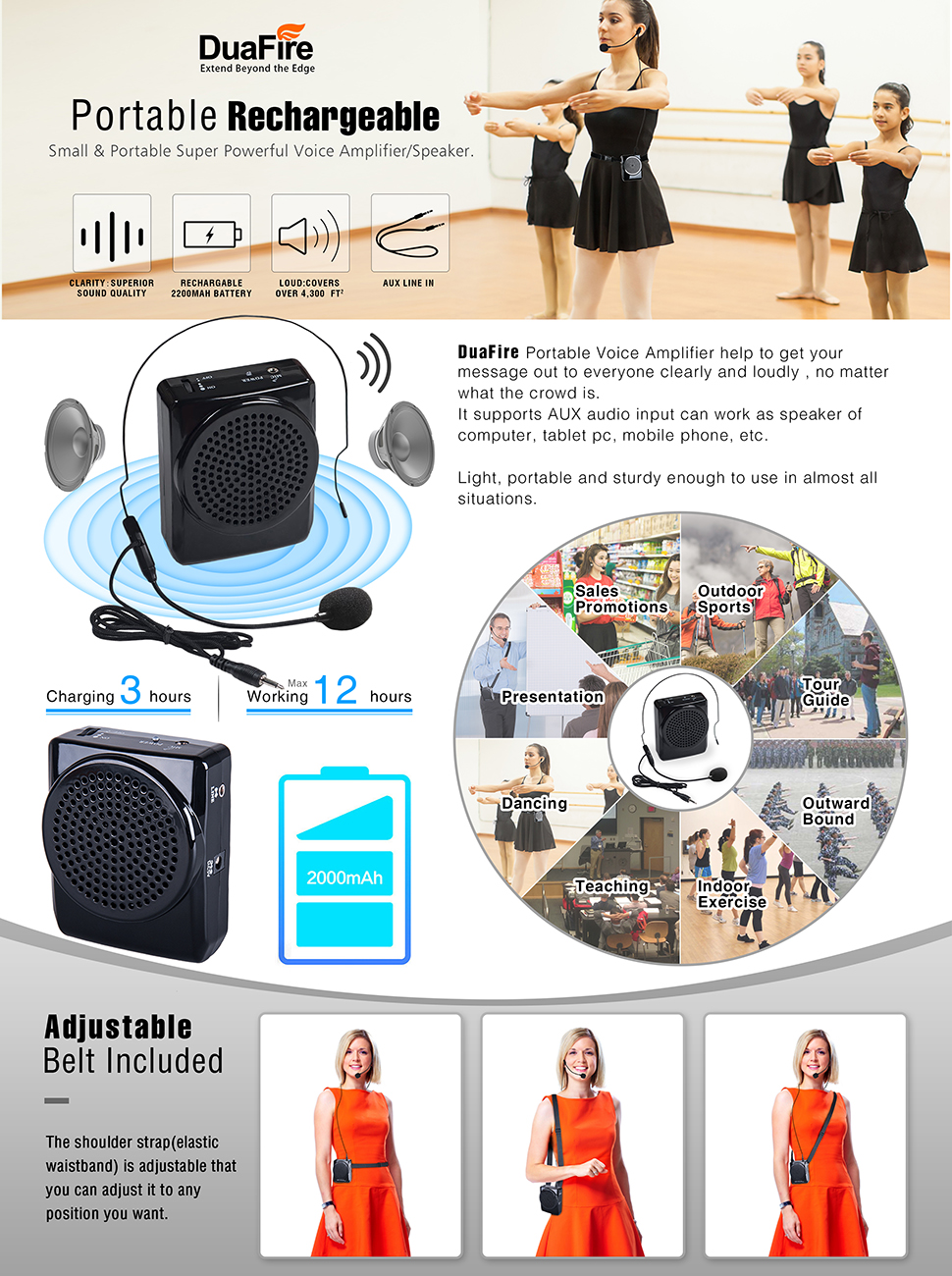 Modular Classroom Yoga ~ Amazon duafire voice amplifier portable microphone