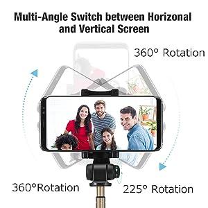 Amazon Com Bluetooth Selfie Stick Tripod With Wireless