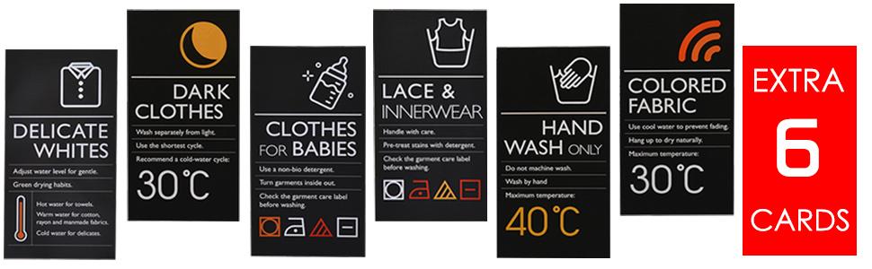 Extra 6 CARDS laundry basket