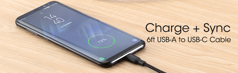 [2-Pack 6FT] iRAG Charger Cable Compatible for Samsung Galaxy S10/S10 Plus/S10E/S9/S9 Plus/S8/S8 Plus/Note 10/9/8-56k 6 feet Braided USB Type C to A ...