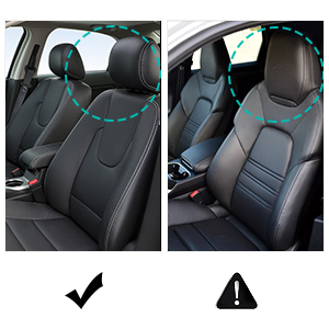 Naipo Car Seat Warmer and Cooler 2 in 1 Cushion Seat Cover with Heating and  Ventilation Function and 3D Mesh PU Leather Portable Breathable Cover for