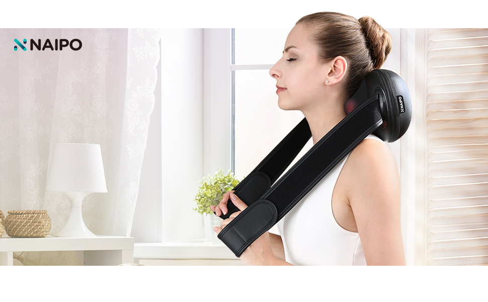 Amazon.com: Naipo - Almohada masajeadora de cuello trasero ...