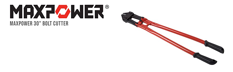"""maxpower 30"""" bolt cutter drop-forged chromoly steel lighter stronger durable long-lasting blade"""