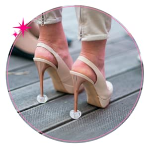 d25fa2e1874 Starlettos Designer High Heel Protectors for Weddings, Graduations and  Formal Events - Stops Your Heels Sinking