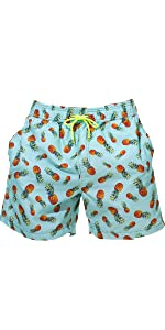 WUAMBO Mens Quick Dry Solid Shorts Lightweight Mens Swim Trunk with Mesh Lining,Pocket