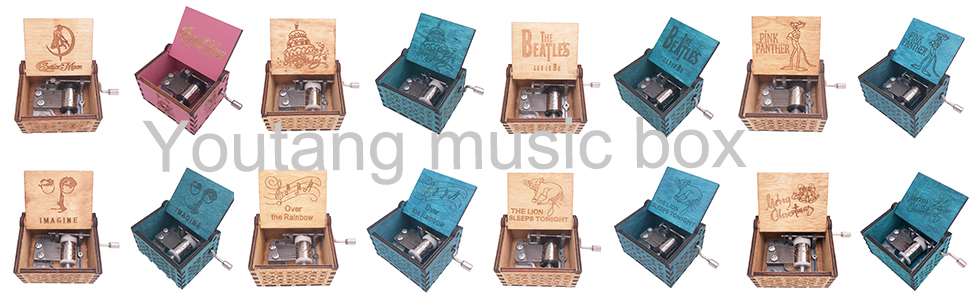 all kind of music boxes