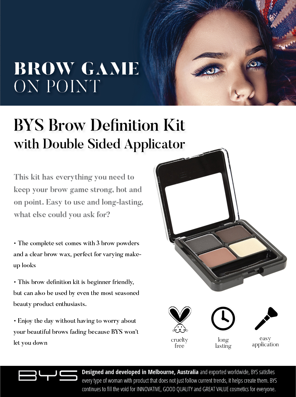 Amazon Bys Brow Definition Kit With Double Sided Applicator