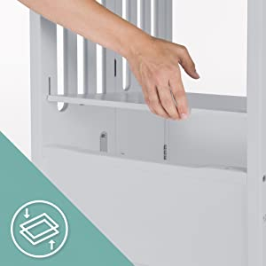 Guidecraft Contemporary Kitchen Helper Stool Adjustable Height & Folding Step Stool