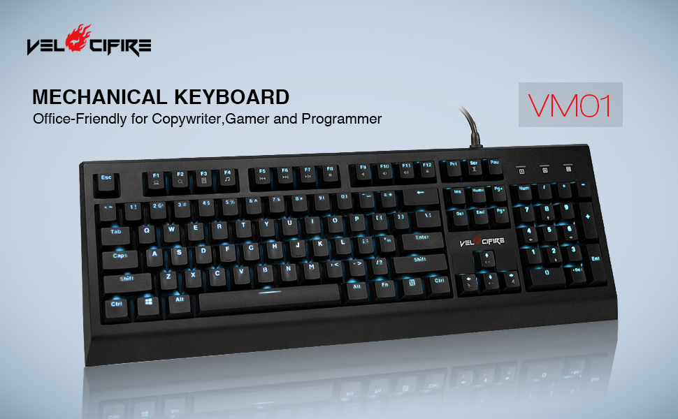 6f035153e6d Amazon.com: Velocifire VM01 Mechanical Keyboard 104-Key Full Size ...