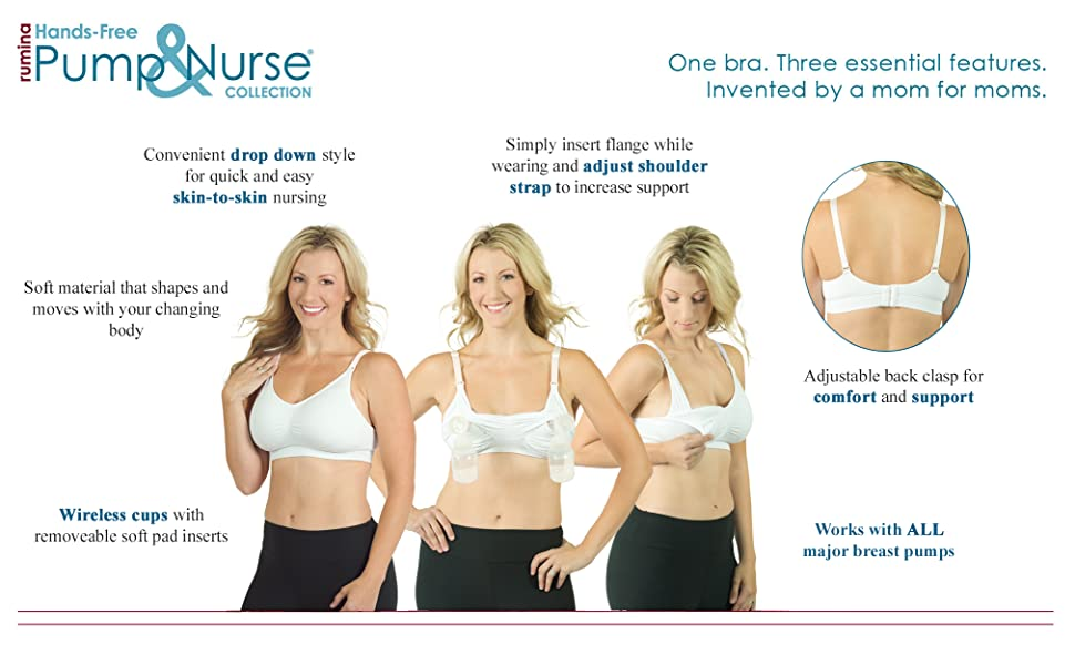 db5e88255abf0 Amazon.com   Seamless Pump Nurse Nursing Bra with Built in Hands ...