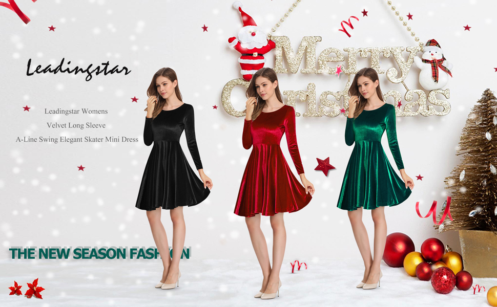 Leadingstar A-Line Swing Velvet Mini dresses for each important moment and  make you more confident and and feminine. 166783f46