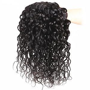 brazilian water wave hair bundles. water wave hair with frontal. virgin water wave hair 4 bundles.