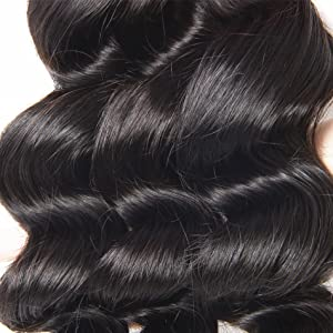 loose wave hair weft. loose wave hair with lace closure. brazilian loose wave hair.
