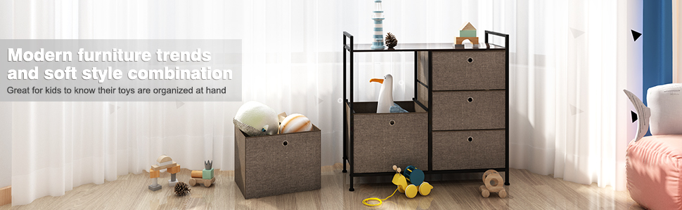 Faux Linen Polyester Drawers