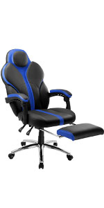 Blue Gaming Chair Office Chair E-Sports with Ergonomic High-Back Faux Leather · Computer Gaming Chair Faux Leather Racing Style Executive Office Chair ...