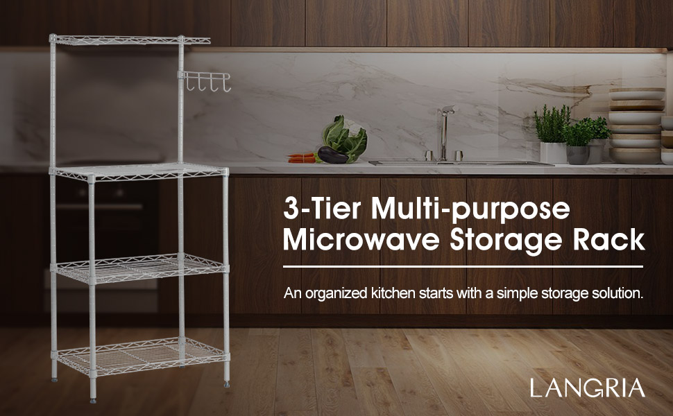 ... For The Mess Kitchen That Can Slow Down Your Cooking And Prep Time, The  Storage Rack Is The Simplest And Best Option For You. Let LANGRIAu0027s  Microwave ...