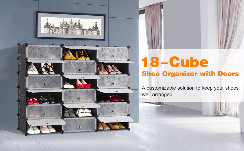 Put The Panels And Door Panels Together With The ABS Black Plastic  Connectors That Are Included In The Package And Decide How To Shape Your  Cube Shoe ...