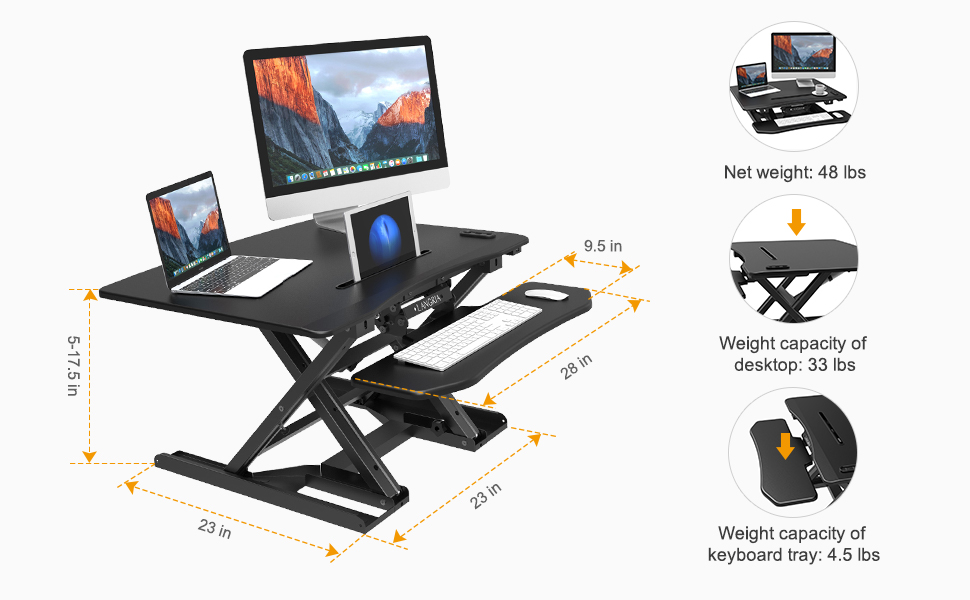 Amazon Com Langria Electric Standing Desk Variable