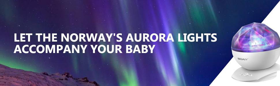Aurora Night Light Projector Light with timer