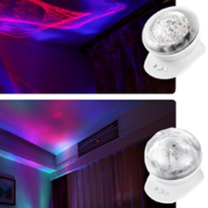 Soaiy rotation sleep soothing color changing aurora night light clourful light show by remove the dome cover mozeypictures Choice Image