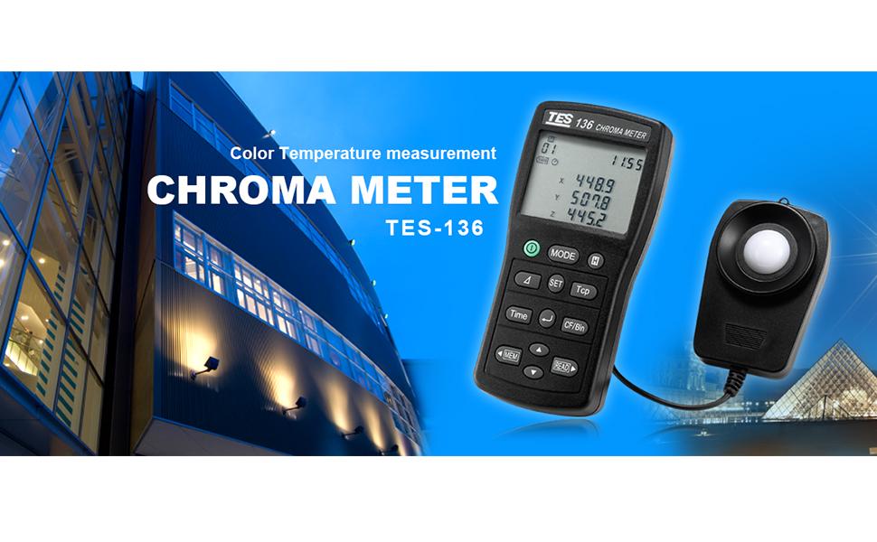 Tes 136 Chroma Meter Light Meter Color Temperature