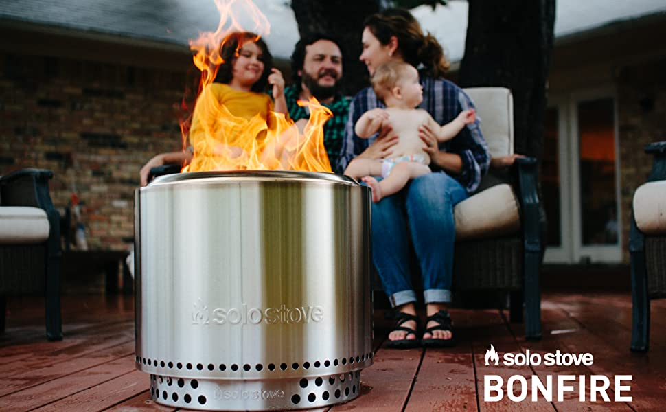 family, fire pit, wood burning