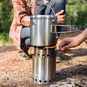Stainless Steel Companion Pot Titan Solo Stove Pot 1800 Great for Backpacking,