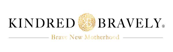 Kindred Bravely Logo with Gold Foil Burst Brave New Motherhood