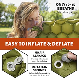 Comfortable and Lightweight Sleeping Pad for Camping