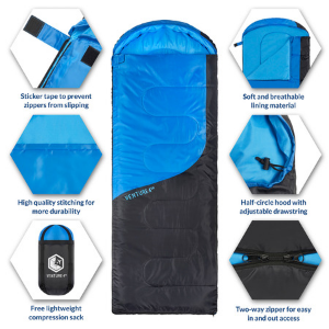 durable sleeping bag, camping bag, high quality sleeping bag, light bag