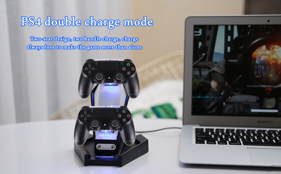 Amazon.com: PHOINIKAS PS4/PS3 Controller Charger Charging ...