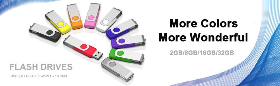 Flash Drive USB Flash Drive 2GB 8GB 16GB 32GB 32GB 32GB 3.0 10 Pack