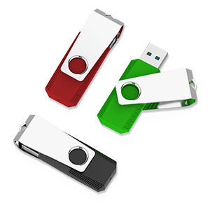 FairOnly USB3.0 Flash Drive Large Capacity USB Stick High Speed USB Drive Green 64GB