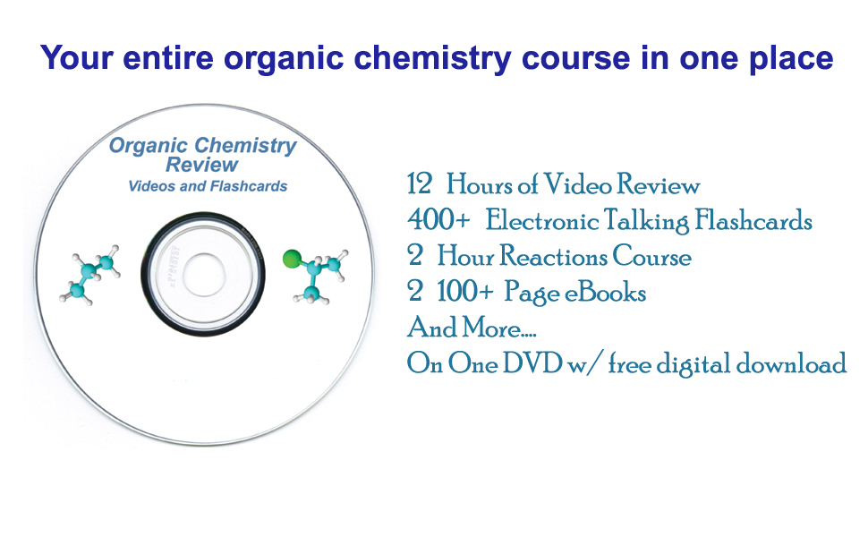 Condensed Organic Chemistry Help DVD With Digital Download Option Organic Chemistry Study DVD With Complete Course Review Videos By AceOrganicChem