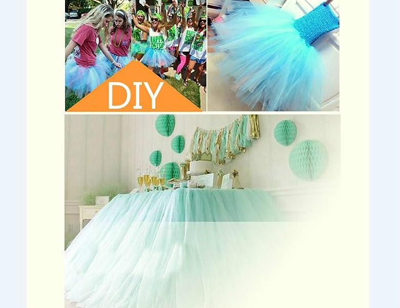 "US Tulle Roll Spool 6/"" x 100//200 yards Tutu Wedding Gift Craft Bow Decor Fabric"