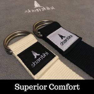 Shantihi Yoga Strap for Stretching Super Soft Premium Material