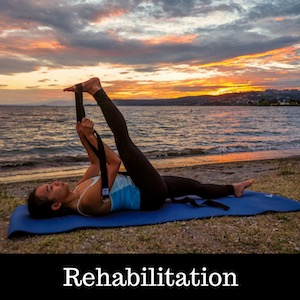 Shantihi Yoga Strap for Stretching Rehabilitation Recommended by Physical Therapists