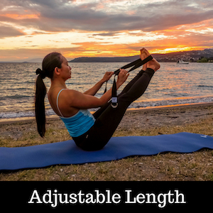Shantihi Yoga Strap for Stretching Adjustable Length 8 Feet