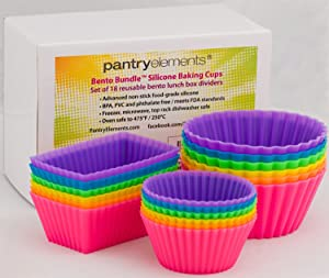 Amazon.com: Pantry Elements Silicone Baking Cups Variety