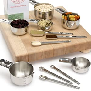 Stainless Measuring Cups and Spoons